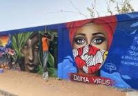 Sénégal : des artistes ont peint des peintures murales à Dakar pour sensibiliser à la Covid-19